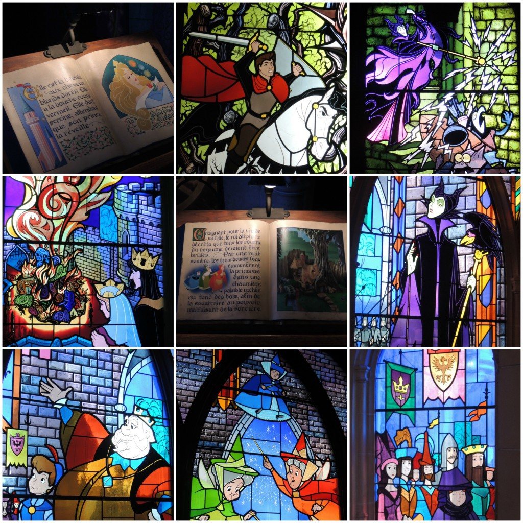 Day-Trip-to-Disneyland-Paris-stained-glass-windows