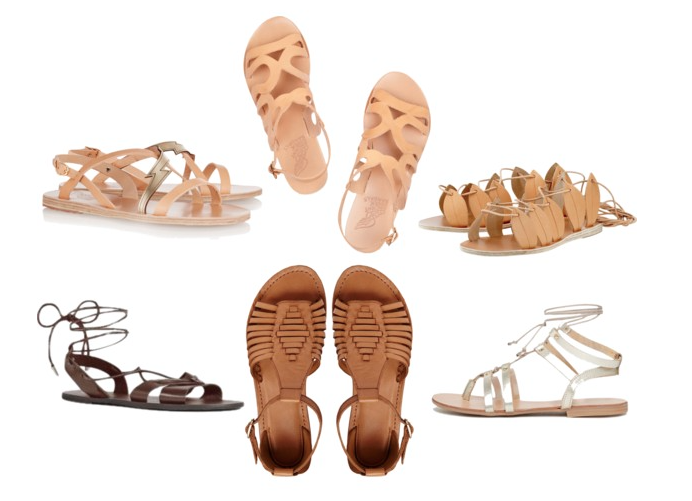 Greece And Greek Style Leather Sandals