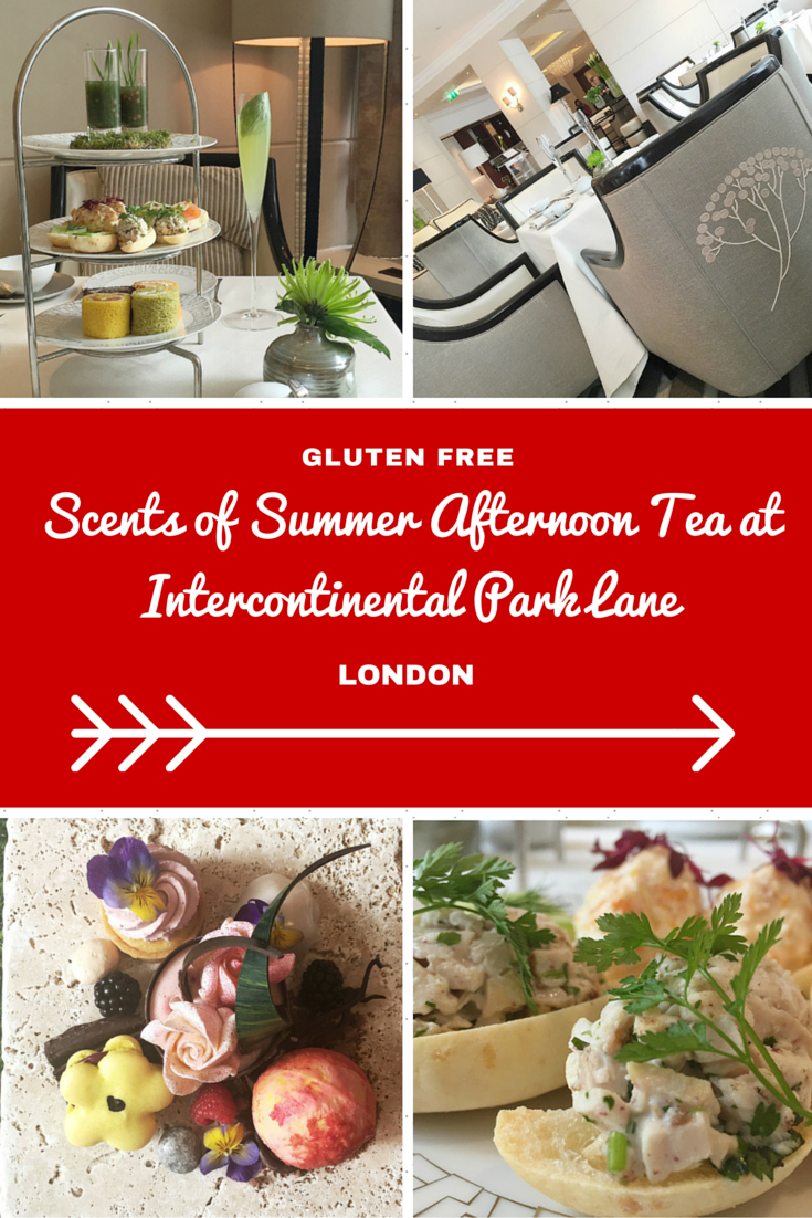 London Travel Inspiration - Thinking of heading to London on your next vacation and wanting to eat a yummy afternoon tea. Why not read my review of the gluten free scents of summer afternoon tea at Intercontinental Park Lane in London; one of London's most luxurious hotels and part of the IHG Hotel chain...warning the images will make you drool! There are plenty of gluten free food travel tips and afternoon tea reviews at my blog www.aroundtheworldin80pairsofshoes.com
