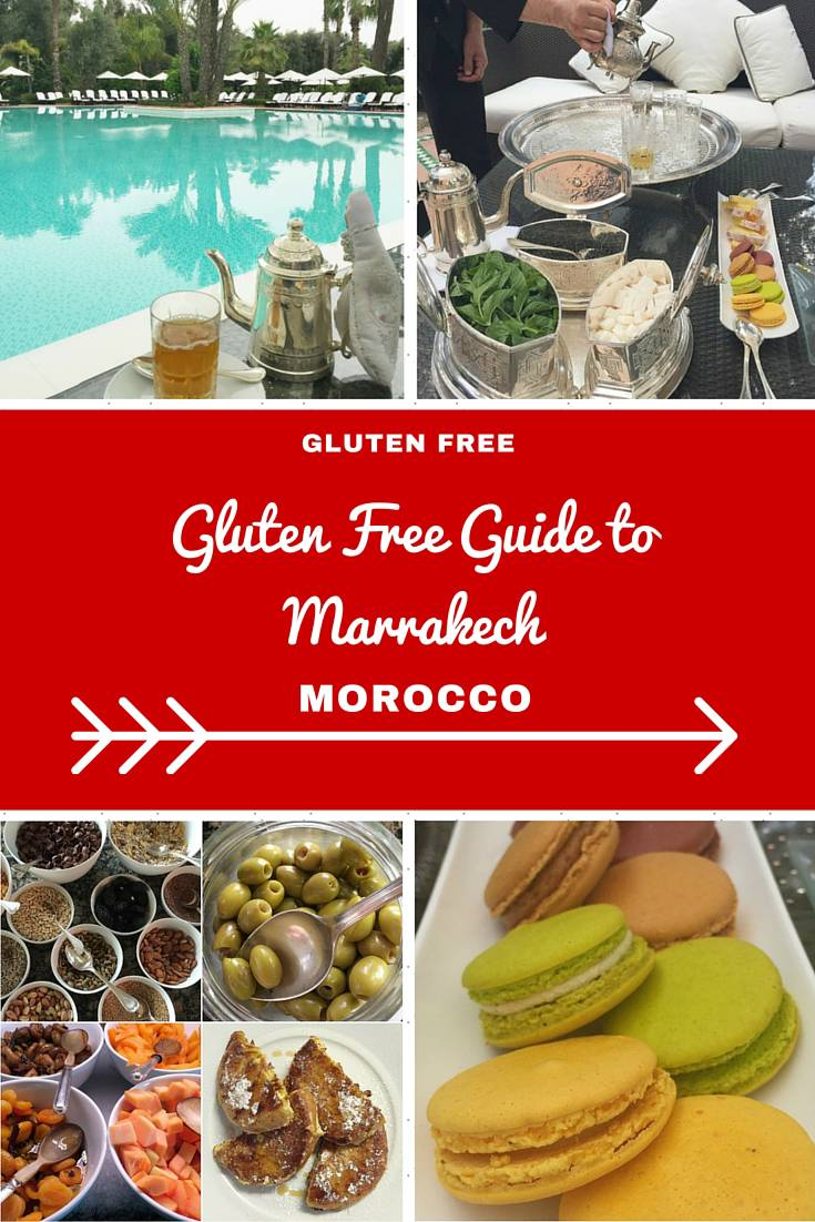 Morocco Travel Inspiration - A Guide to Eating Gluten Free in Marrakech, Morocco.  You won't go hungry on your next vacation with these handy travel tips on where to find your gluten free treats while travelling in Marrakech! Marrakech is a great holiday destination when it comes to gluten free food, you won't leave hungry!