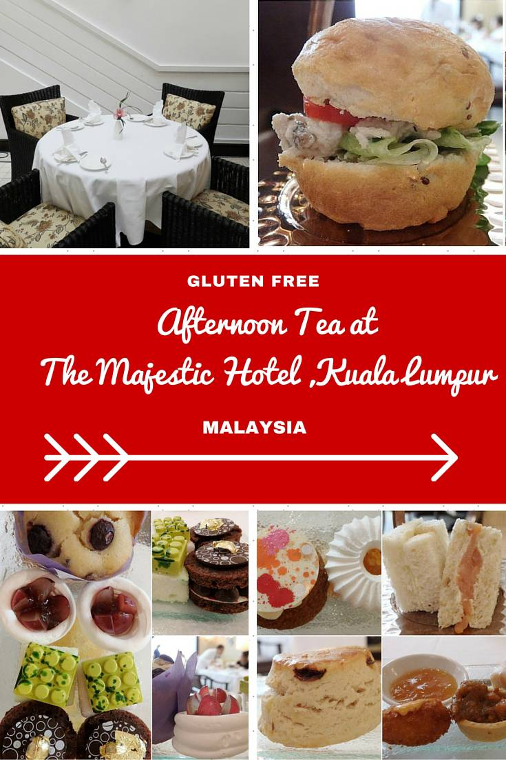 Malaysia Travel Inspiration - Gluten Free Afternoon Tea at The Majestic Hotel, Kuala Lumpur in Malaysia.  Malaysia is a great holiday destination when it comes to gluten free food, you won't leave hungry!