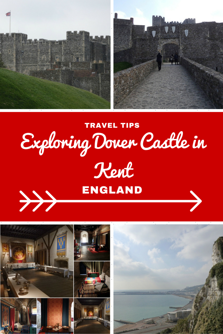 England Travel Inspiration - The perfect day castle hunting in England visiting Dover Castle, an English Heritage property which is an easy day trip from London by train. Click the link to read more about this amazing castle in England where you can see the white cliffs of Dover and learn about the fascinating World War 2 history plus the gluten free food options you can find in Kent.