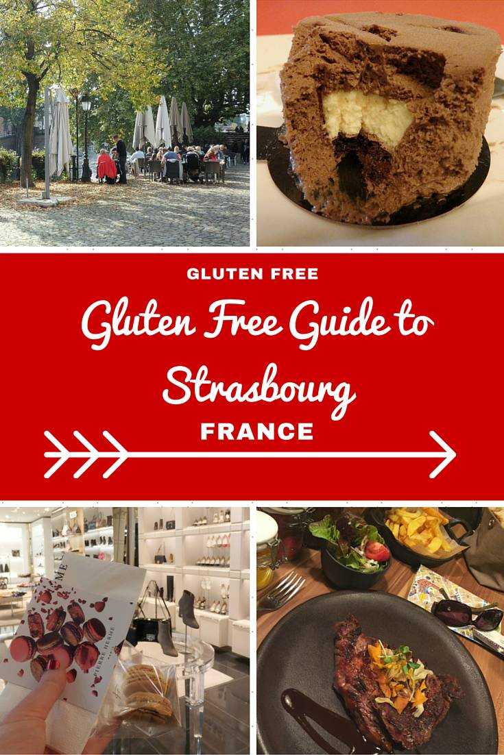France Travel Inspiration - A Guide to Eating Gluten Free in Strasbourg, France.  You won't go hungry on your next vacation with these handy travel tips on where to find gluten free food including breakfast, gluten free cake and a big juicy steak while travelling in Strasbourg! Warning: the images will make you drool.