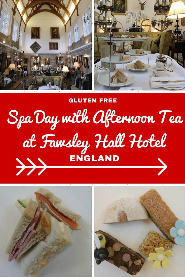 England Travel Inspiration - Are you gluten free and heading to Northamptonshire on your next vacation then book yourself in for a spa day with afternoon tea at Fawsley Hall Hotel...warning the images will make you drool! There are plenty of gluten free food travel tips and afternoon tea reviews at my website www.aroundtheworldin80pairsofshoes.com