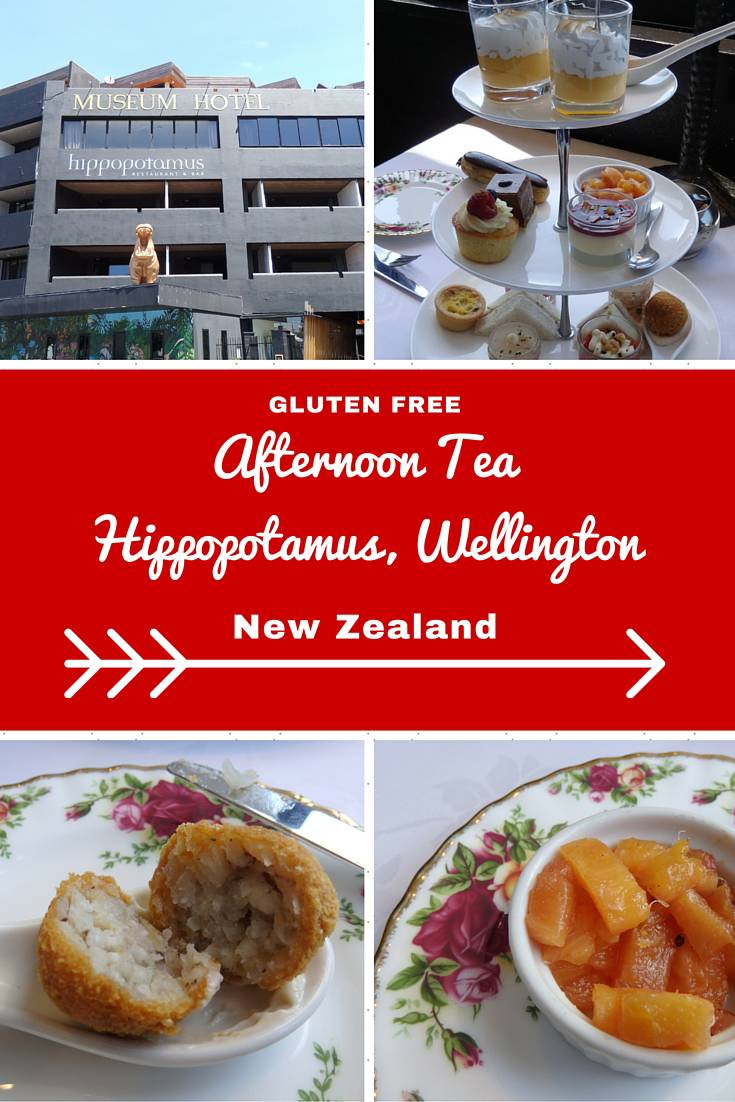 New Zealand Travel Inspiration - Thinking of heading to Wellington on your next vacation and wanting to eat a yummy high tea. Why not read my review of the gluten free high tea at Hippopotamus in Wellington, New Zealand...warning the images will make you drool! There are plenty of gluten free food travel tips and afternoon tea reviews at my website www.aroundtheworldin80pairsofshoes.com
