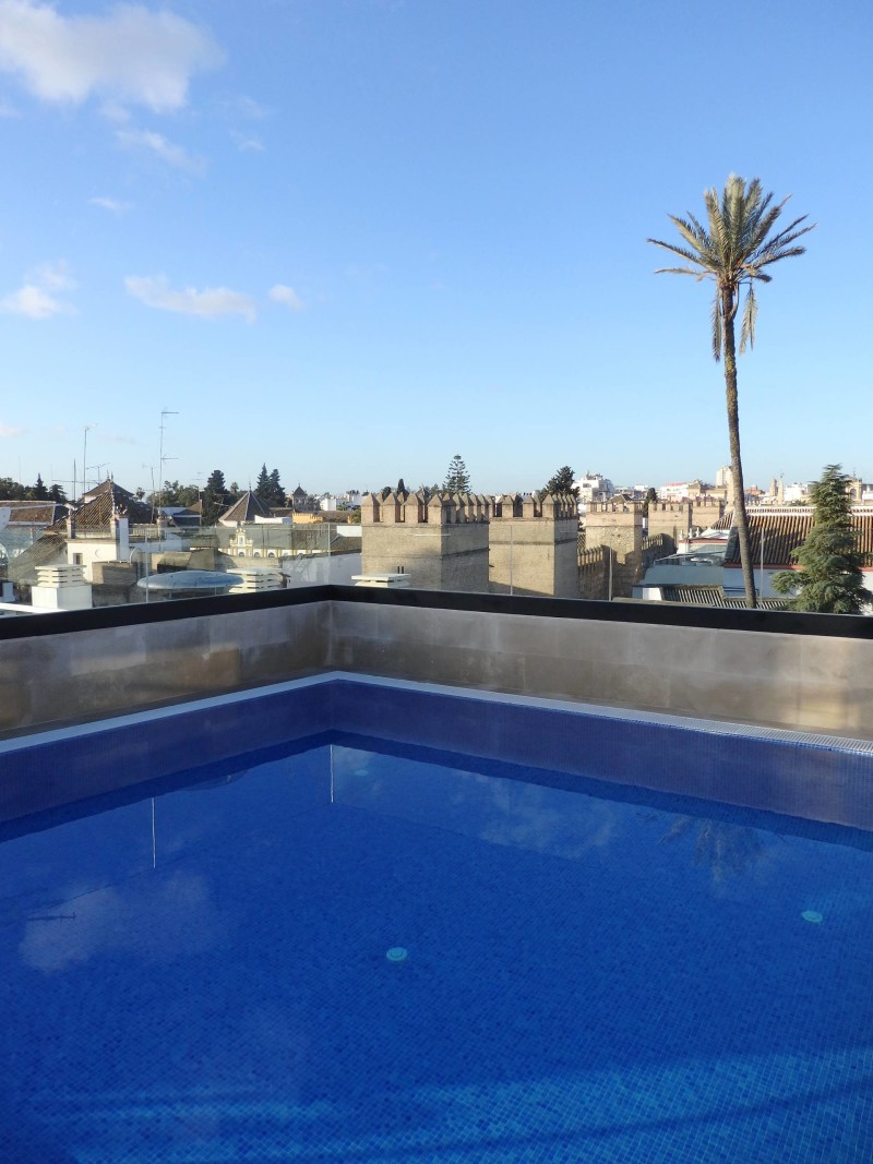 Spain Travel Inspiration - Thinking of visiting Seville on your next vacation to Europe then why not check out hotel review of this lovely boutique hotel in Seville, Spain with a gorgeous rooftop pool overlooking the old town. Click the link to read more of my hotel review of Hotel Casa 1800 Seville.