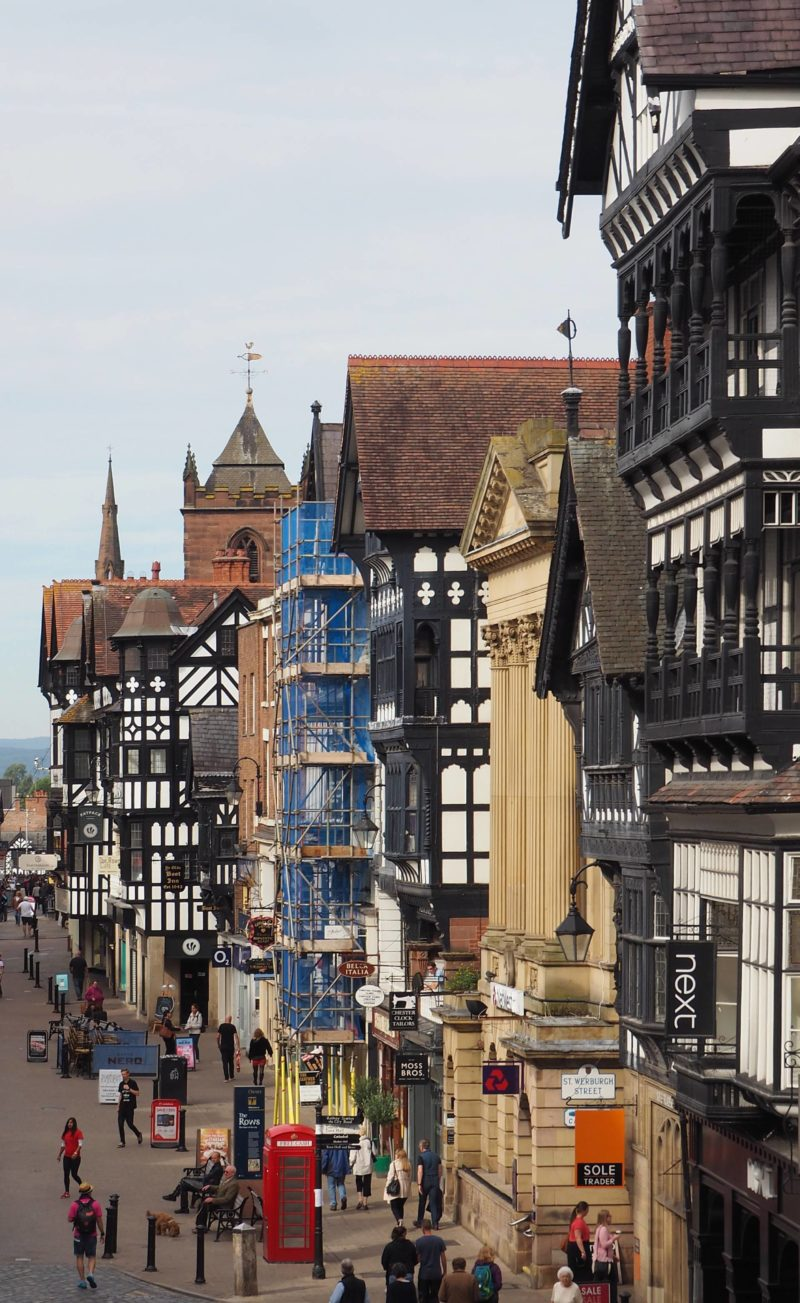 England Travel Inspiration - Exploring Chester in Cheshire; a delightful city in the North of England. Full of wobbly buildings, old English pubs, a beautiful cathedral; the city is a must see in England and an easy train journey from London. Click through to read my travel tips for Chester, Cheshire including where to find yummy gluten free food.