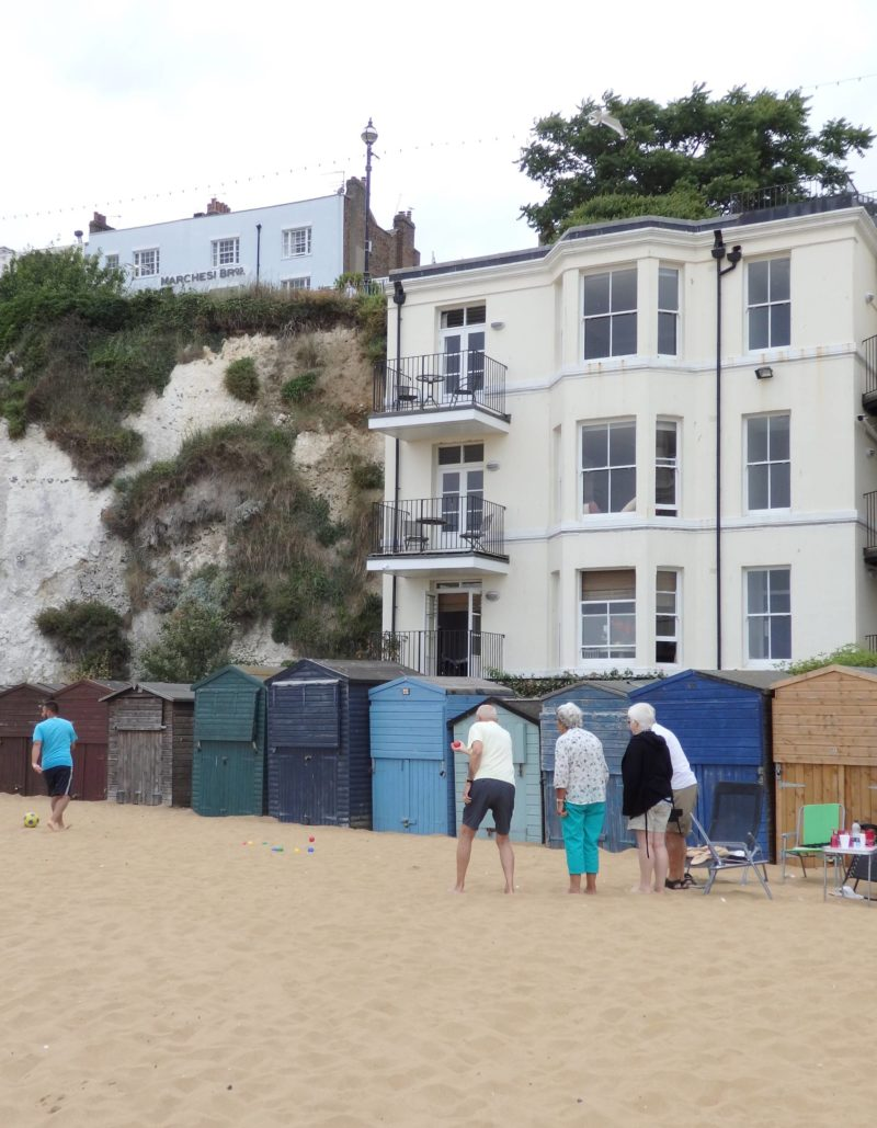 England Travel Inspiration - Fancy a day trip from London to the seaside then why not head on the train to Broadstairs in Kent; Viking Bay is a gorgeous secluded bay for a swim. Charles Dickens called Broadstairs home for a few years and you can now have afternoon tea in his former home which is now a hotel that offers beautiful views to the sea. There are so many wonderful places to visit in the British Isles including Broadstairs, at times you do feel like you're stepping back in time...if you want to see more photos of Broadstairs or see my honest review of the gluten free afternoon tea then click over to my blog post on the town.