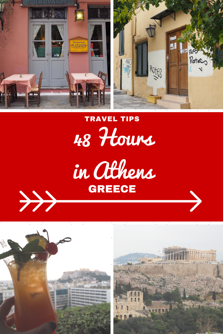 Greece Travel Inspiration - 48 Hours in Athens, one of my favourite cities in Europe with so many things to do, great food and ancient sites with amazing history all over the city! Plaka is my favourite area and there are so many fabulous photography opportunities on these tiny streets. Winter is a great time to vacation in the city so pop on over to the blog and read my travel tips at the bottom from hotels, day trips and where to find the best afternoon tea in Athens.
