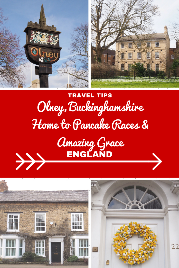 England Travel Inspiration - Olney, The Sweetest Market Town: Home to Pancake Races & Amazing Grace! This little market town in Buckinghamshire is gorgeous with cute vintage tea rooms like Teapots which offer gluten free food to the Cowper & Newton Museum which offers an incredible display on the slave trade. A totally picture perfect little town that you need to stop at to eat a pancake or two...click over to the post to see more photos of this beautiful spot in England.