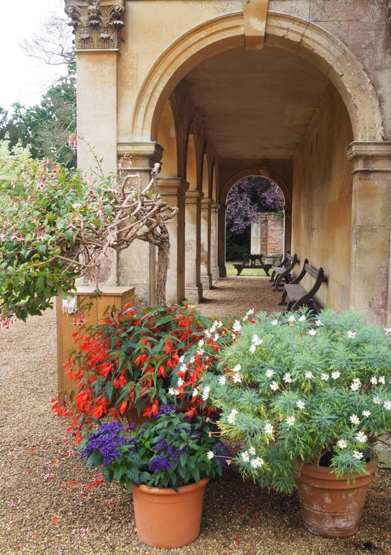England Travel Inspiration - Exploring Castle Ashby Gardens, Northamptonshire. Make sure you visit the beautiful English garden when it's bursting with colour during summer. The Orangery is like stepping back in time. If you love visiting gardens on vacation, then this beautiful destination should be on your bucket list. #castleashby #northamptonshire #england #beautifuldestinations #80pairsofshoes #traveltips #englishgardens
